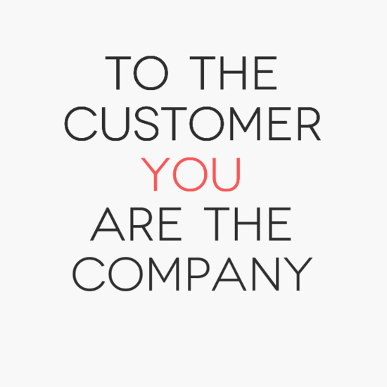 YOU are the Company